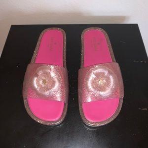 Kate Spade Sparkly Jelly Slides; Size 10